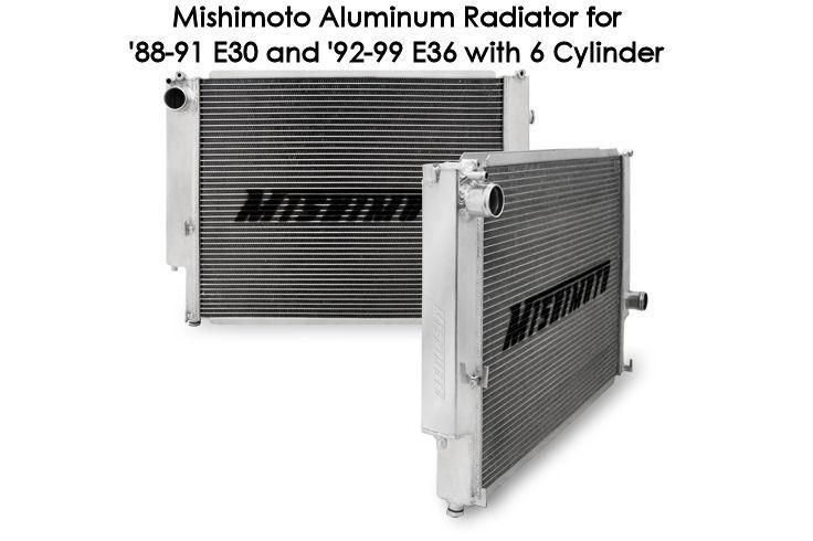 Mishimoto Aluminum Radiator: BMW E30 & E36 6-CYL 88-99 (5SPD ONLY)