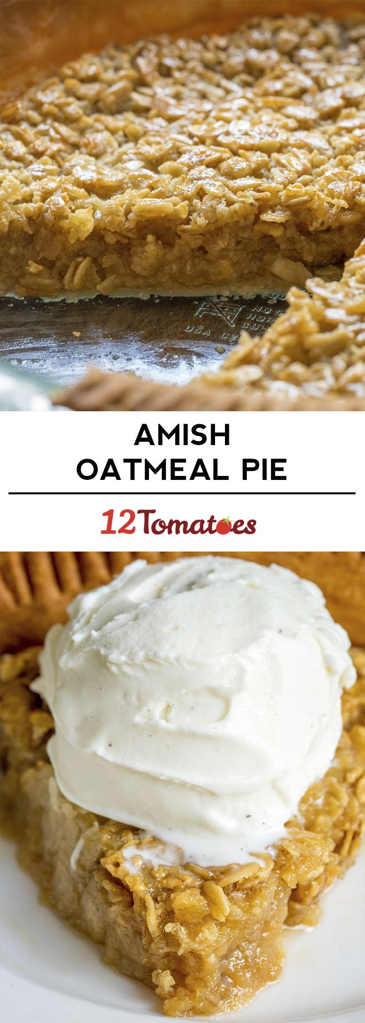 Amish Oatmeal Pie.