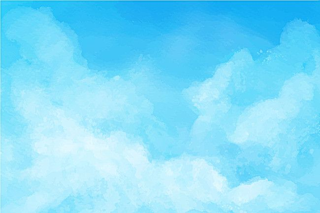 Watercolor Ink Abstract Blue Sky Background Material Blue Sky