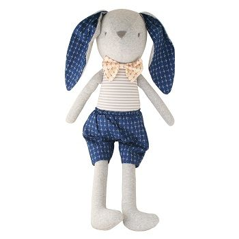 Louie Bunny Cuddle Toy Navy $58.95 #sweetcreations #baby #toddlers #kids #softtoys #toys #cuddle