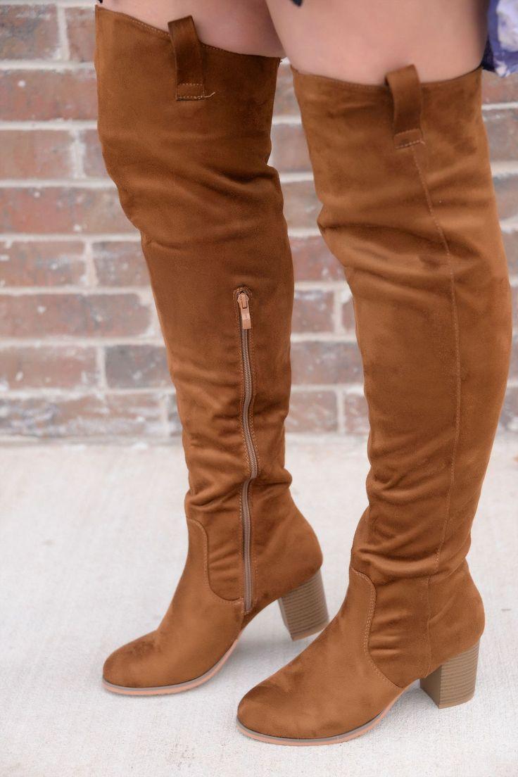 Higher Standards Tan Knee-High Boots - BOOT195TN