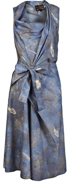 Vivienne Westwood Anglomania Apron Fish Dress in Blue - Lyst   The House of Beccaria