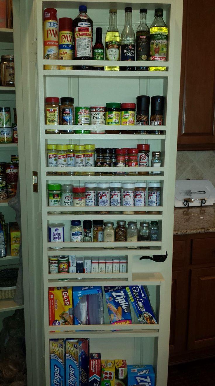 pantry door spice rack pantry door pinterest spice racks pantry and spices. Black Bedroom Furniture Sets. Home Design Ideas