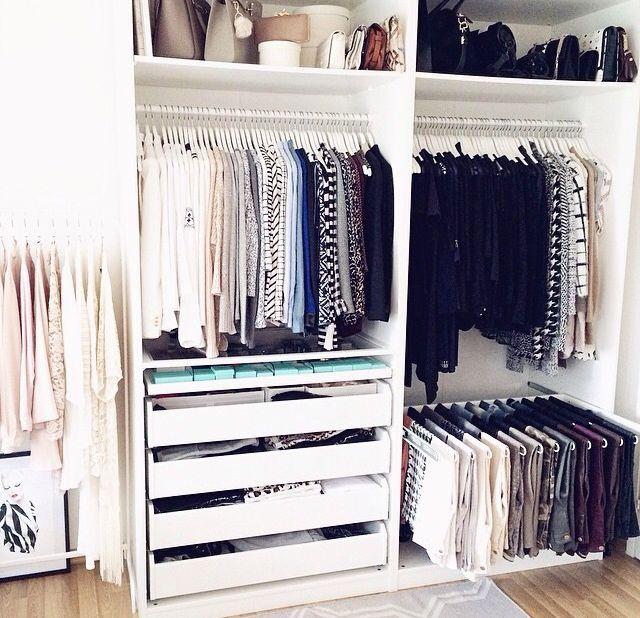Closet Schrankdekoration Ankleide Zimmer Schrankwand
