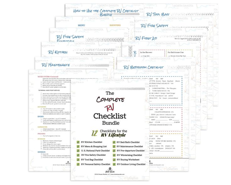 Complete rv checklist bundle tripwire in 2020 rv