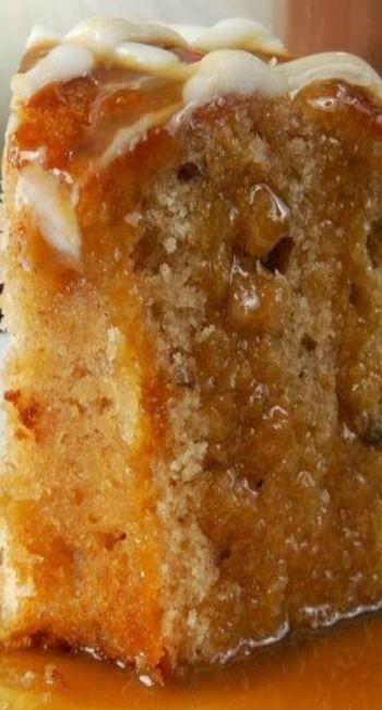 Apple Harvest Pound Cake with Caramel Glaze Recipe