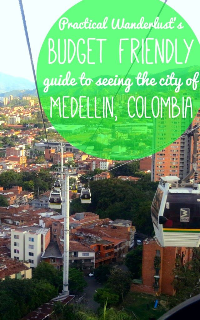 A budget friendly guide to seeing the city of Medellin, Colombia using public transit, all for less than $5 USD!