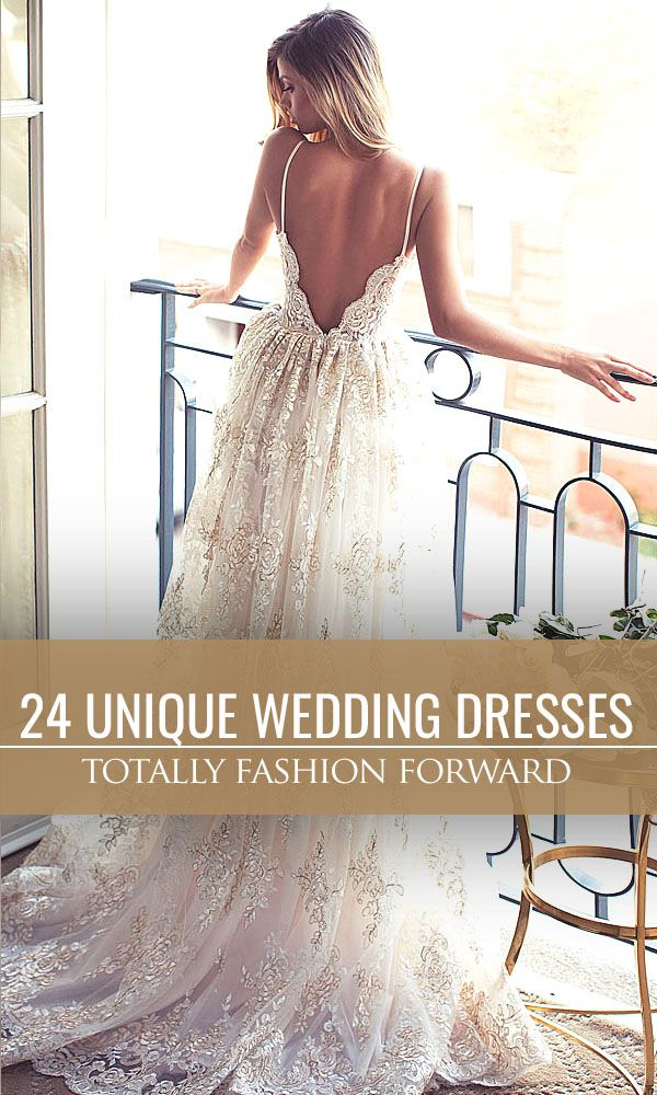 24 Totally Unique Fashion Forward Wedding Dresses ❤ We collected totally unique and trendy wedding gowns. See more: http://www.weddingforward.com/fashion-forward-wedding-dresses/ #wedding #dresses
