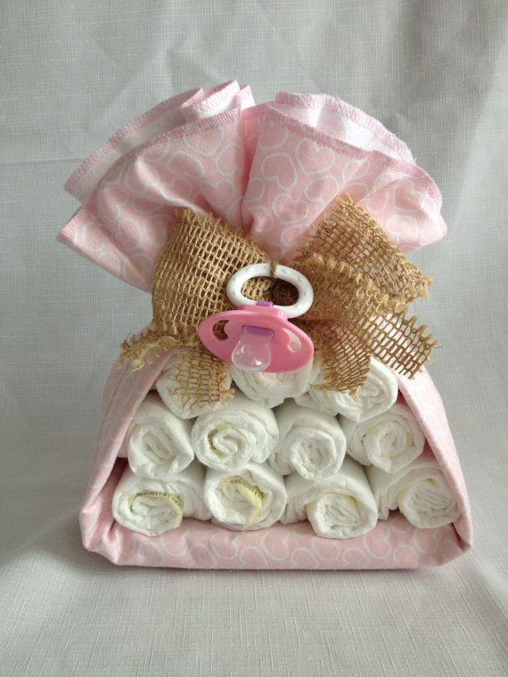 Stork Diaper Bundle  Shabby Chic Pink by TheKraftyKornerbyKim