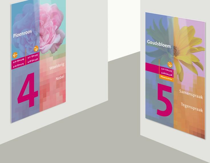 Etageaanduiding, OsiraGroep / bewegwijzering / 2007 - Ontwerp door Cascade - visuele communicatie Amsterdam