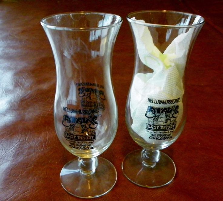 2 (Pair) Dick's Last Resort The Shame of Chicago Hellava  Hurricane Glasses #DicksLastResort