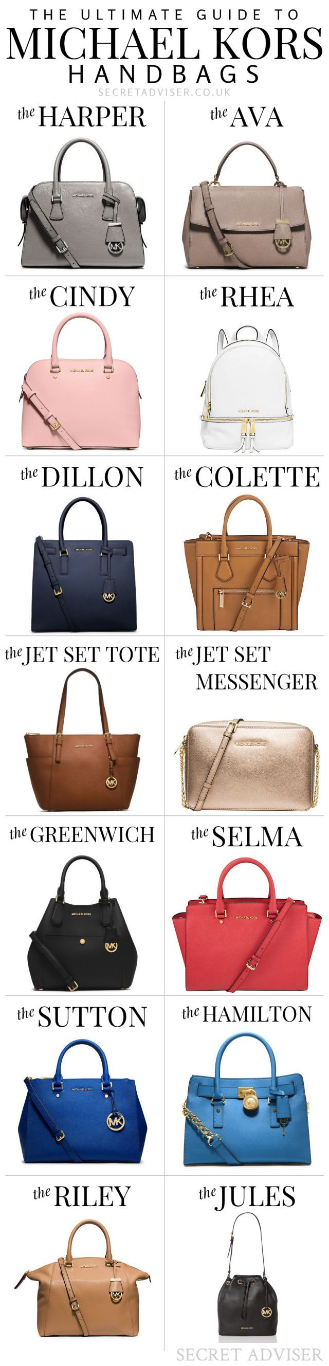 The Ultimate Guide to Michael Kors Handbags - Really useful for choosing your next one, or deciding which one to buy for someone else! Pin it for later.