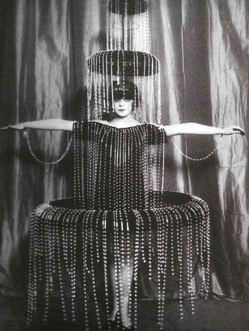 """Fountain"" costume designed by Paul Poiret, early 1900s."