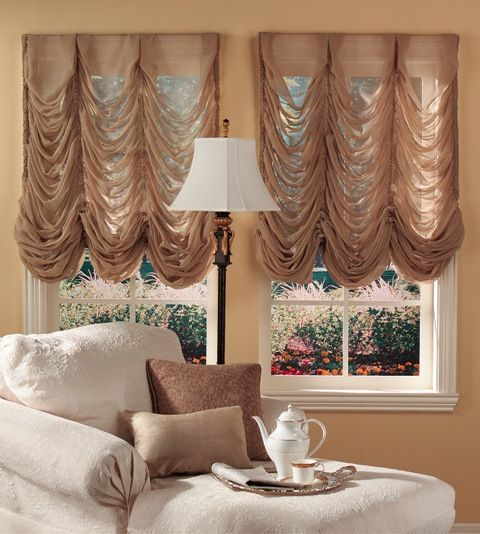 158 best Balloon and Austrian shades images on Pinterest Window - balloon curtains for living room