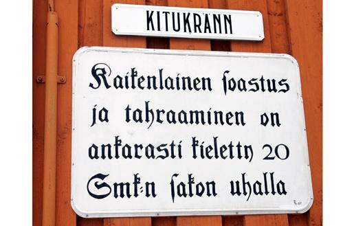 Vanhan Rauman kuulisimpia kujia on Kitukränn.   Kuva: Heikki Saukkomaa/Lehtikuva