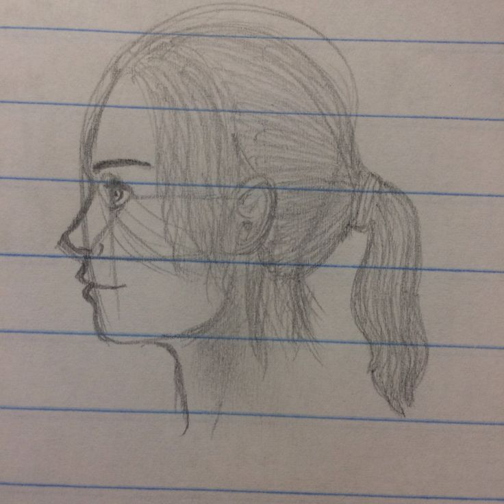 I used an unknown person's method to draw the profile side of a face. Thank you to whoever you are!