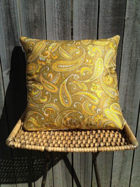 Vintage Paisley. 40x40cm Green Paisley Cushion $AUD25