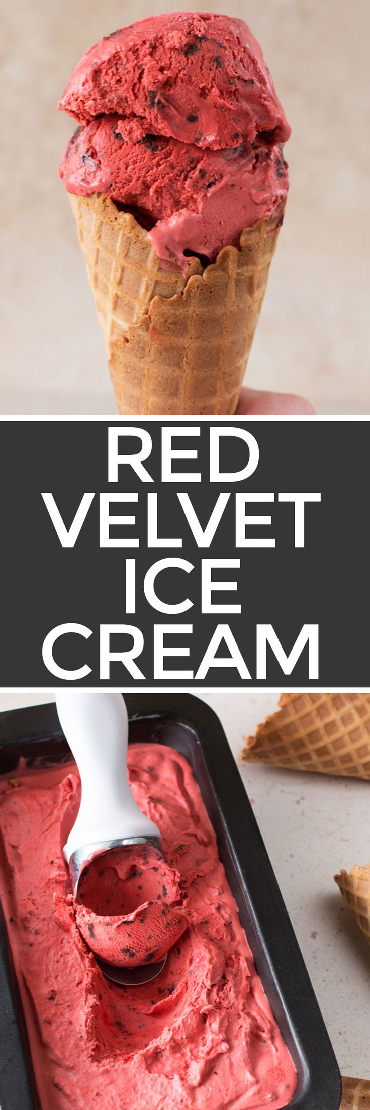 Red Velvet Ice Cream with Brownie Chunks – Cake 'n Knife