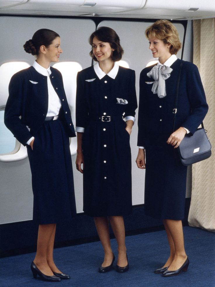 image Stewardess air france with stocking