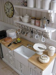 more miniature cottage cuteness - loving the white on white look