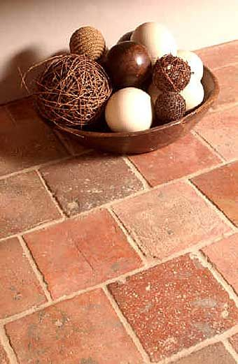 terracotta...it's our backsplash...let's embrace it!
