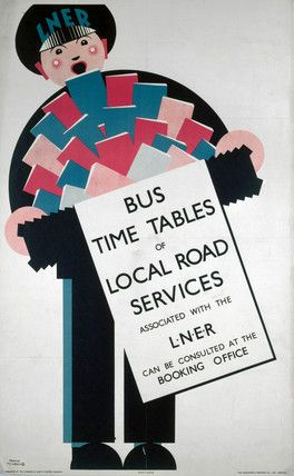 'Bus Timetables of Local Road Services', LNER poster, 1923-1947.Newbould, Frank © NRM / Pictorial Collection / Science & Society Picture Library