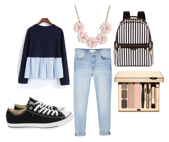"""""""Untitled #25"""" by simranbasi12 on Polyvore featuring MANGO, Converse, Henri Bendel and J.Crew"""