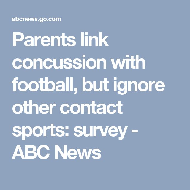 Parents link concussion with football, but ignore other contact sports: survey - ABC News   http://www.meganmedicalpt.com/fmcsa-walk-in-cdl-national-registry-certified-medical-exam-center-in-philadelphia.html