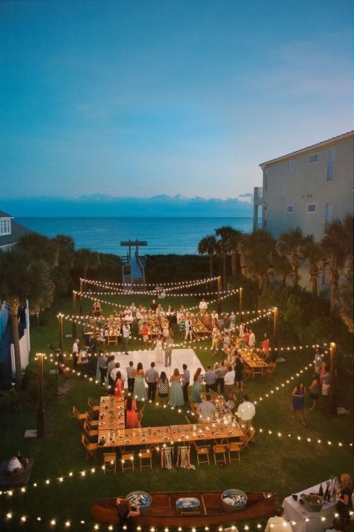 If weather permits, I want this setup for our backyard reception next summer!!!! :)