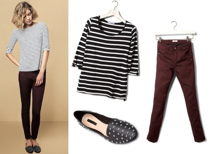 looks sencillos pero estilosos: Studs, Pulled & Bears, Stripes