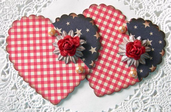 Patriotic+Heart+Flag+Embellishments/Card+by+sarasscrappin+on+Etsy
