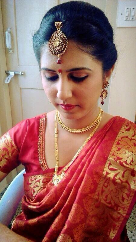 Indian Brides Reception Hairstyle Created By Swank Studio
