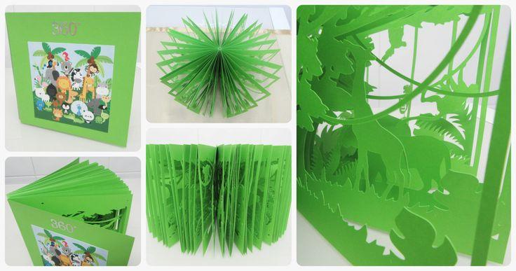 Libro 360°- 360°Book. Silhouette cameo 40 capas con vegetacion, lianas, animales, hierba...