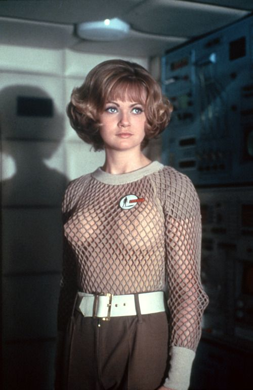 Georgina Moon, as Skydiver Operative Lieutenant Sylvia Howell, in Gerry Anderson's 1970 science fiction series 'UFO'
