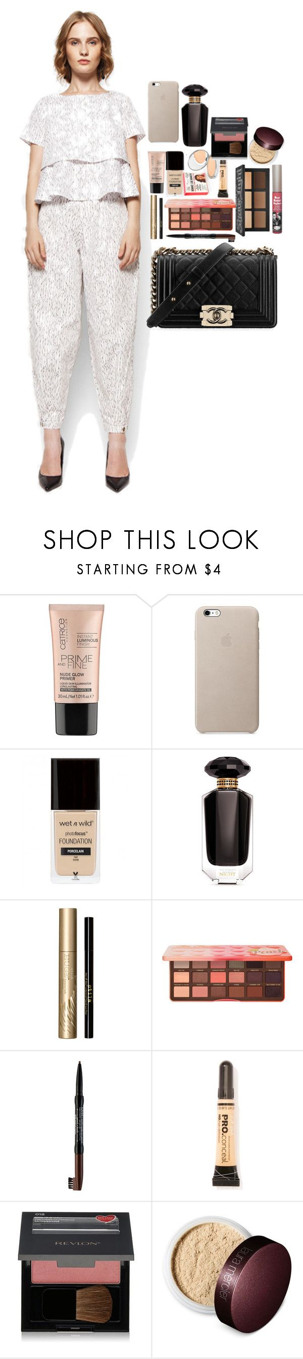 """Untitled #4840"" by veronicaptr ❤ liked on Polyvore featuring Victoria's Secret, Stila, Too Faced Cosmetics, NYX, L.A. Girl, Revlon, Laura Mercier and Chanel"