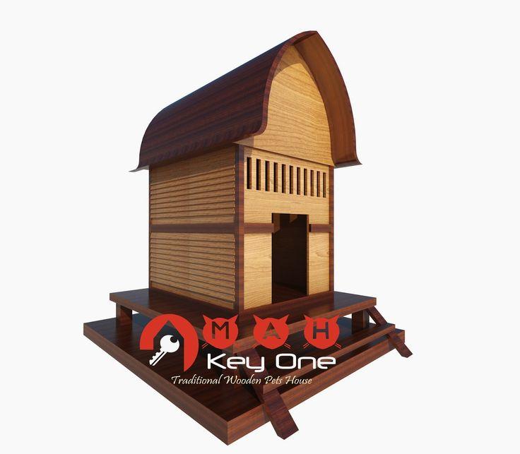 Rumah Anjing dari Kayu Jati (Wooden Dog House) Model Rumah Adat Sasak   OMAH KAYU INDONESIA