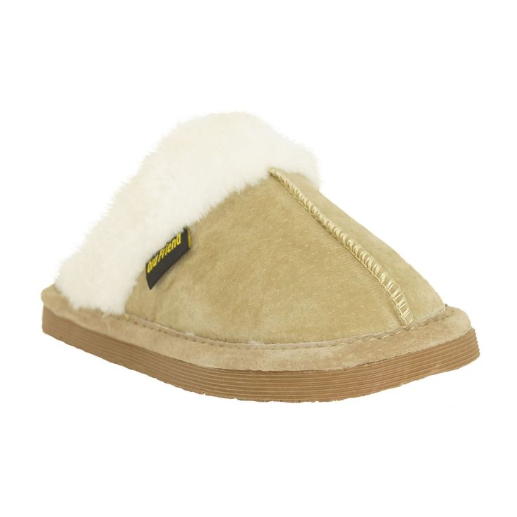 Old Friend Kids Bobcat Scuff Slippers - 568102-BOBCAT-CHESTNUT-S