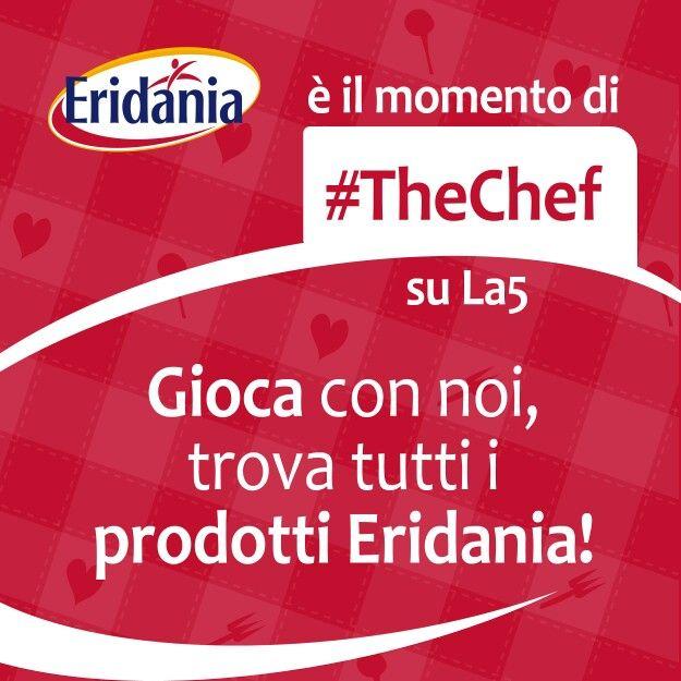Stasera, seconda serata, Eridania tra i prodotti dei menù di #TheChef e su facebook giochiamo con i nostri fan! Www.facebook.com/EridaniaItalia #Eridania #tvshow #italy