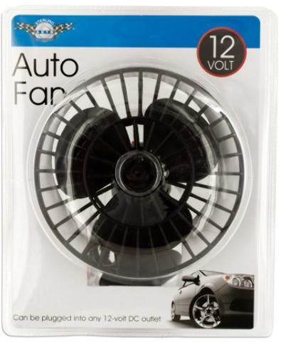 12 Volt Auto Fan with Suction Cup