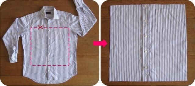 recycle oud overhemd tot kussensloop