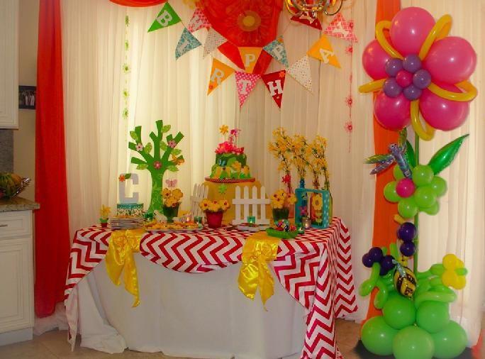 Garden Theme Child Birthday Party Kids Butterflies