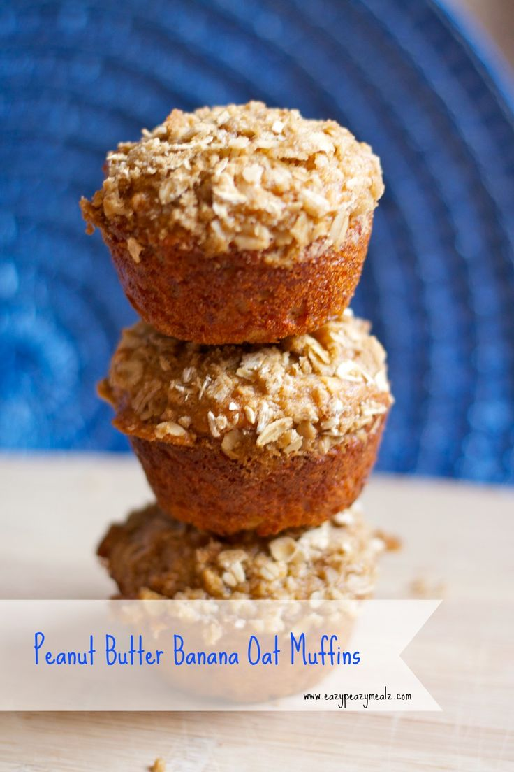 Penut butter banana oat muffin