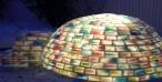 #Rainbowigloo - un igloo colorato con i cartoni del latte #riciclare