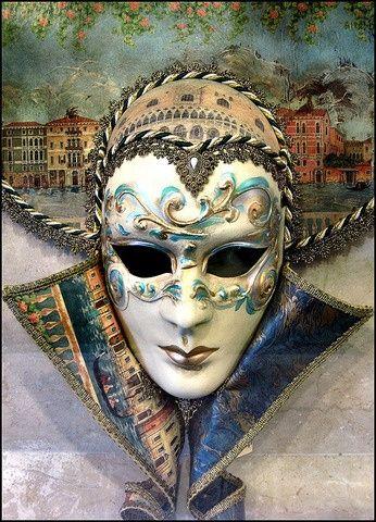 Venetian Porcelain Masquerade Masks   Venetian mask ~ porcelain