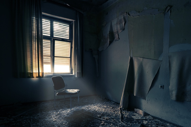 Dilapidated old room.