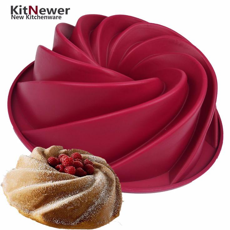WALFOS de qualité alimentaire moule à gâteau 24.5*8.9 cm Big Remous Forme Silicone Beurre Gâteau Moule Cuisine Cuisson Outils Pour gâteaux de Cuisson Moule