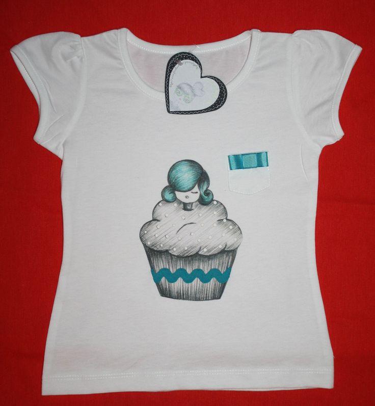 "Camiseta ""cupcake"""