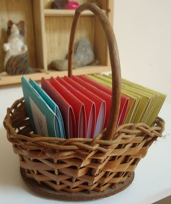 Inviting way to display colorful blank booklets or journals