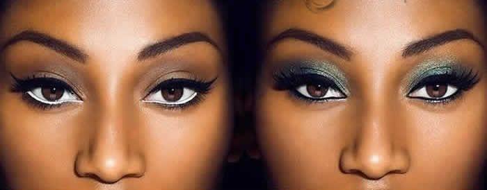 Veja nesta matéria o passo a passo para fazer uma maquiagem para pele morena ou negra, que serve para o seu dia a dia e que com pequenas alterações serve também para noite ou qualquer tipo de festa.