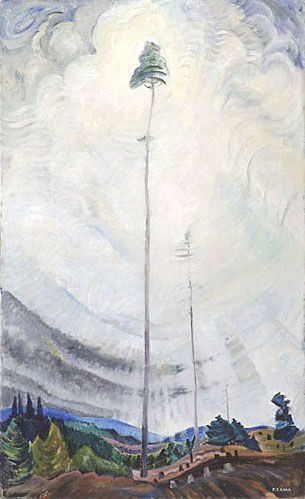 """""""Scorned as timber, beloved of the sky."""" My favourite painting by Emily Carr."""